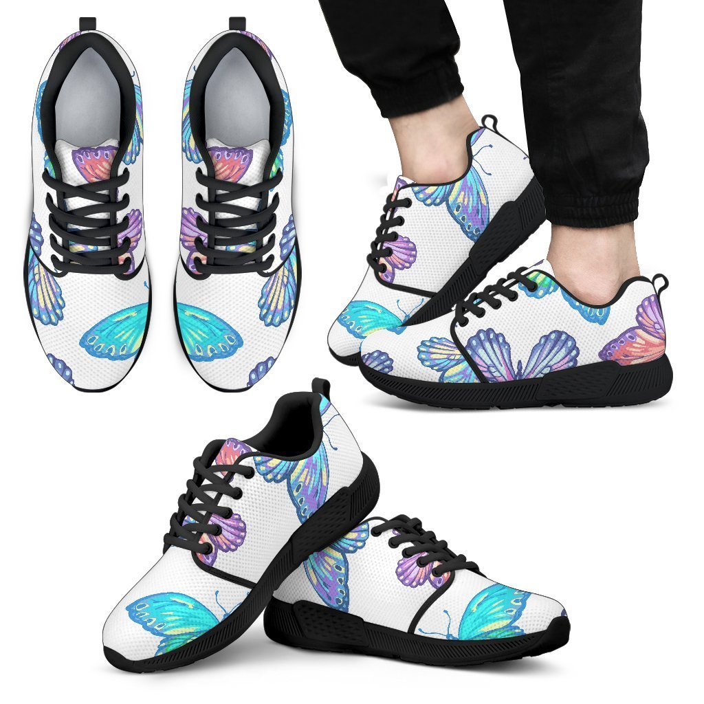 679260c94 Colorful Butterfly Pattern Print Men's Athletic Shoes – GearFrost