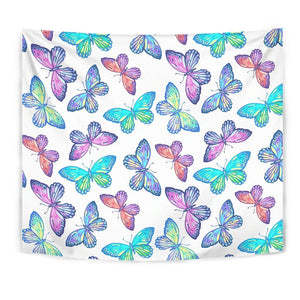 Colorful Butterfly Pattern Print Wall Tapestry GearFrost