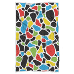 Colorful Cow Print Sherpa Blanket GearFrost