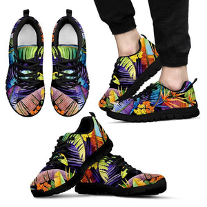 Colorful Leaves Tropical Pattern Print Men's Sneakers GearFrost