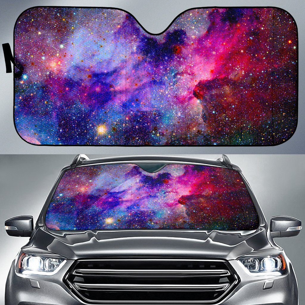 Colorful Nebula Galaxy Space Print Car Sun Shade GearFrost