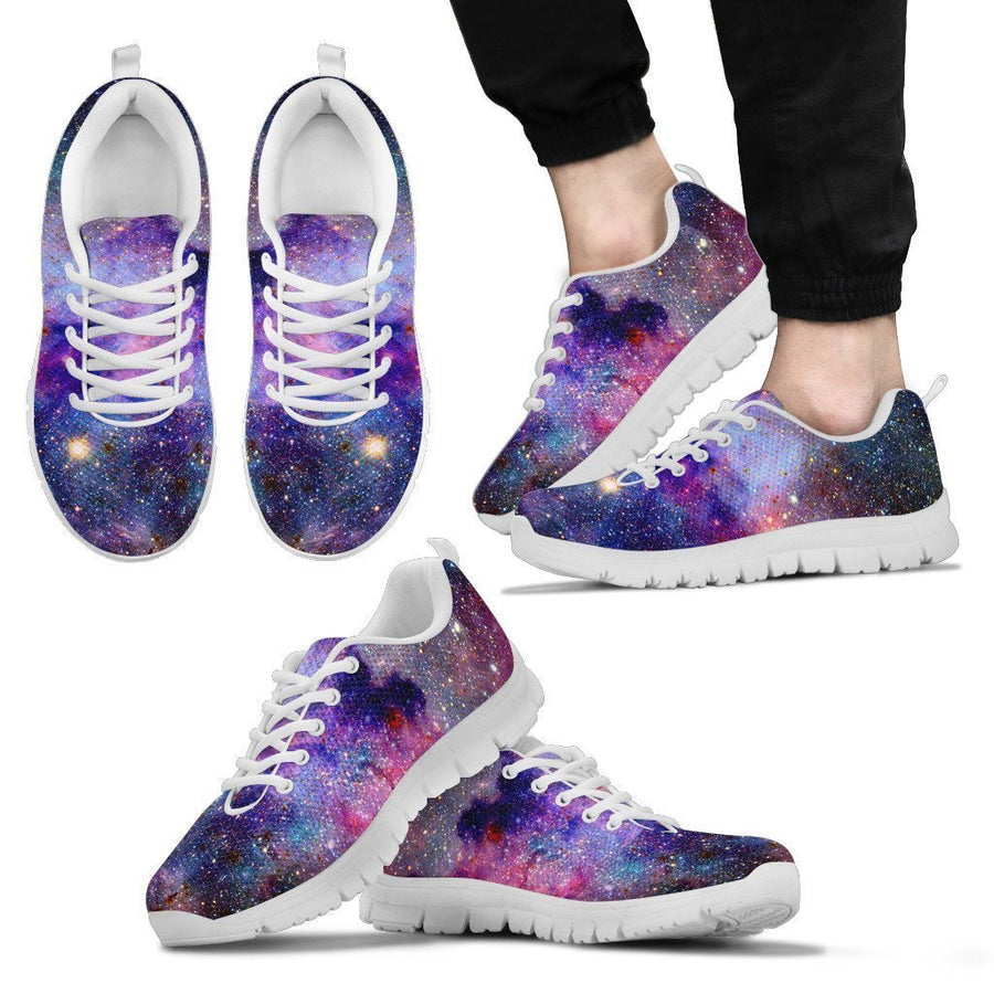 Colorful Nebula Galaxy Space Print Men's Sneakers GearFrost
