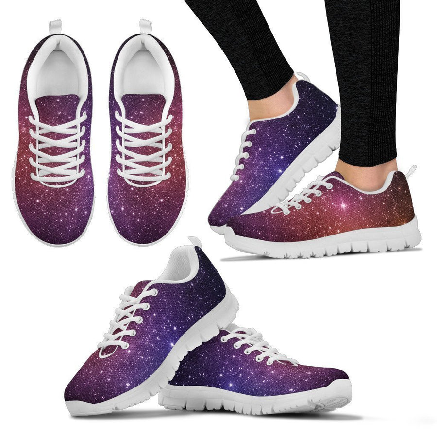 Colorful Stardust Galaxy Space Print Women's Sneakers GearFrost
