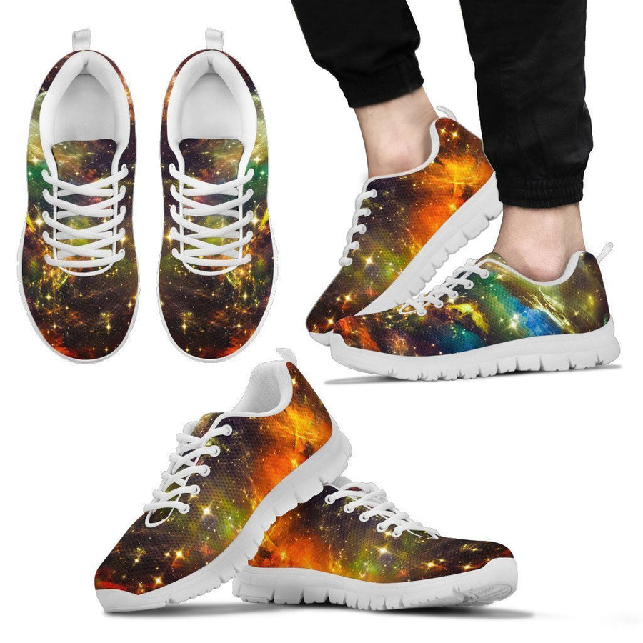 Colorful Universe Galaxy Space Print Men's Sneakers GearFrost