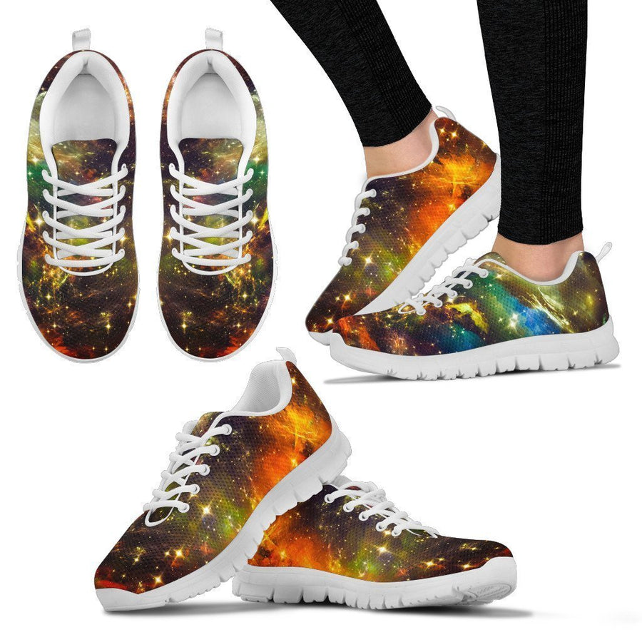 Colorful Universe Galaxy Space Print Women's Sneakers GearFrost