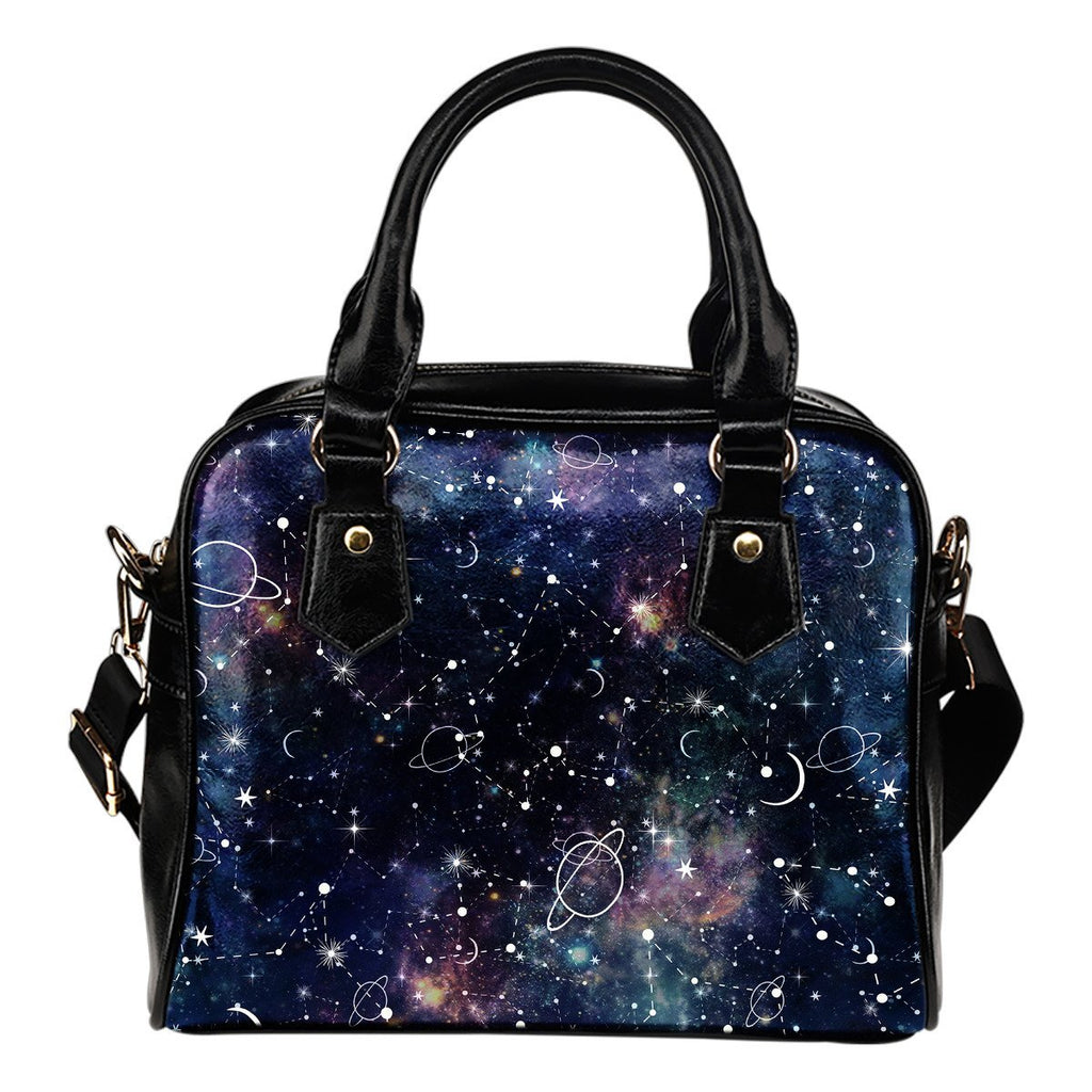 Constellation Galaxy Space Print Shoulder Handbag GearFrost