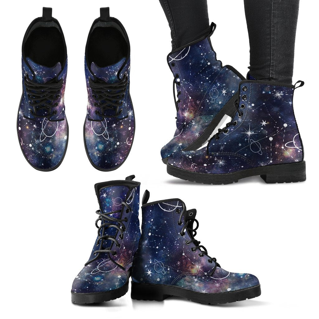 Constellation Galaxy Space Print Women's Boots GearFrost
