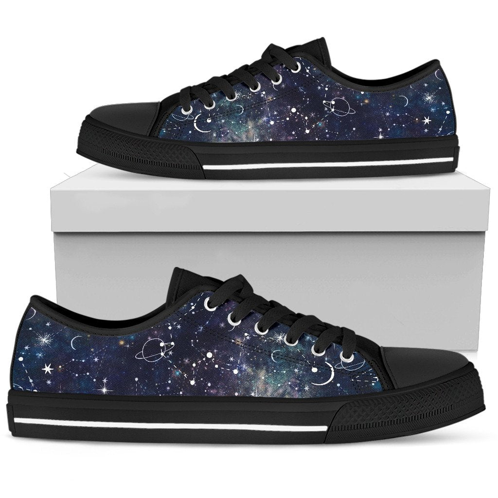 Constellation Galaxy Space Print Women's Low Top Shoes GearFrost