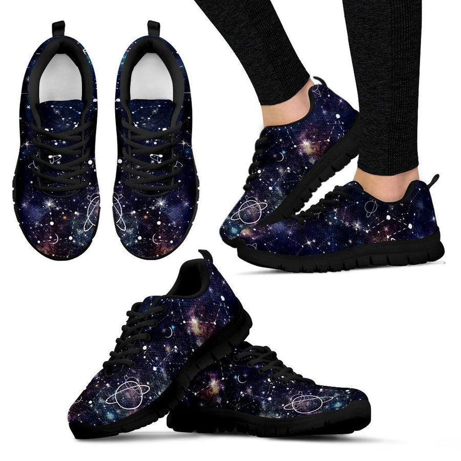 Constellation Galaxy Space Print Women's Sneakers GearFrost