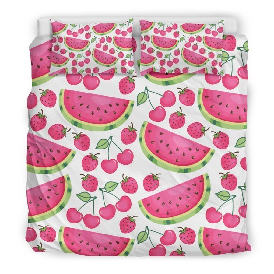 Cute Berry Watermelon Pattern Print Duvet Cover Bedding Set GearFrost
