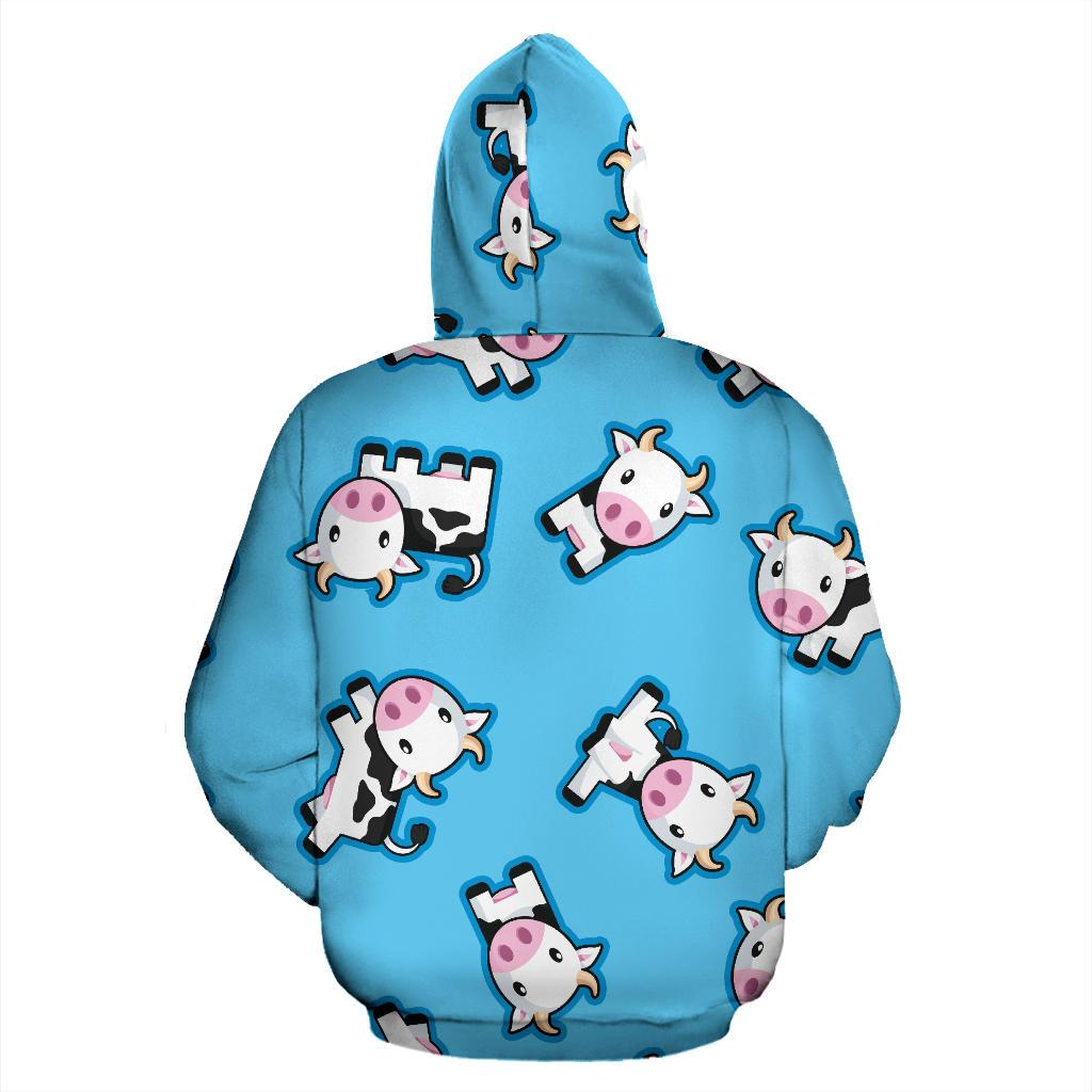 e48cf58f2 Cute Cartoon Baby Cow Pattern Print Pullover Hoodie GearFrost. Product  image 1 ...
