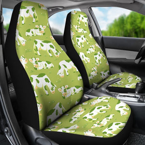 Cute Smiley Cow Pattern Print Universal Fit Car Seat Covers GearFrost