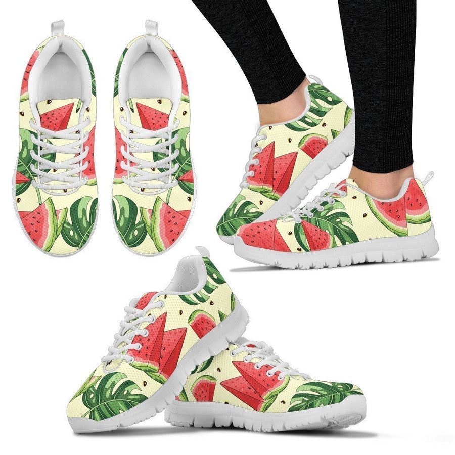 Cute Tropical Watermelon Pattern Print Women's Sneakers GearFrost