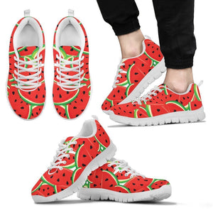 Cute Watermelon Pieces Pattern Print Men's Sneakers GearFrost
