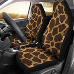 Dark Brown Cow Print Universal Fit Car Seat Covers GearFrost