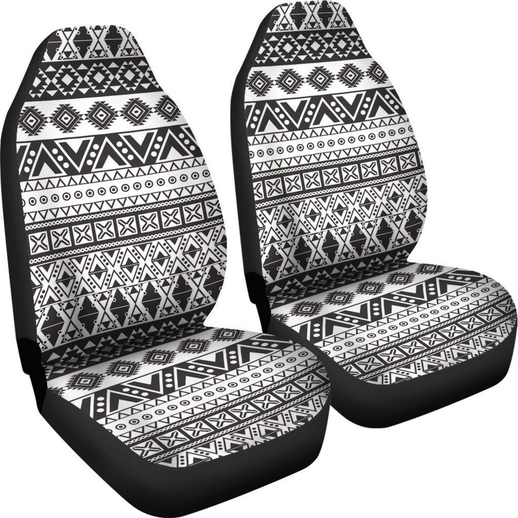 Dark Grey Aztec Pattern Print Universal Fit Car Seat Covers GearFrost