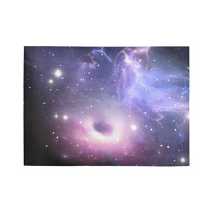 Dark Light Purple Galaxy Space Print 5 x 7 Indoor Area Rug GearFrost