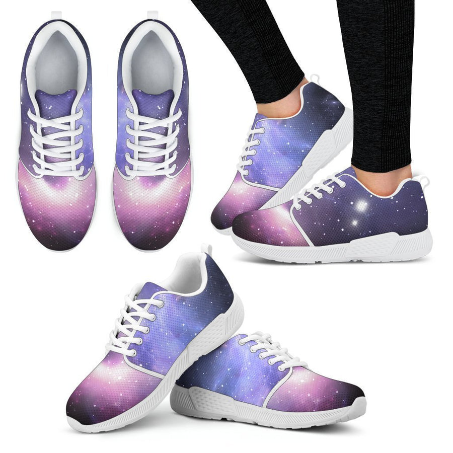 Dark Light Purple Galaxy Space Print Women's Athletic Shoes GearFrost