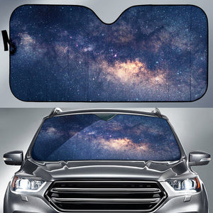 Dark Milky Way Galaxy Space Print Car Sun Shade GearFrost