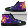 Dark Psychedelic Trippy Print Men's High Top Shoes GearFrost