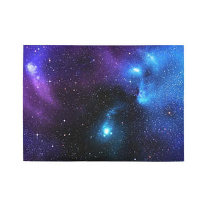 Dark Purple Blue Galaxy Space Print 5 x 7 Indoor Area Rug GearFrost