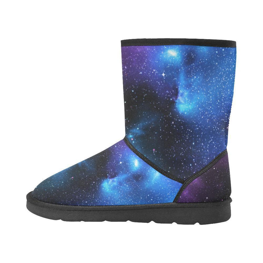Dark Purple Blue Galaxy Space Print Women's Snow Boots GearFrost