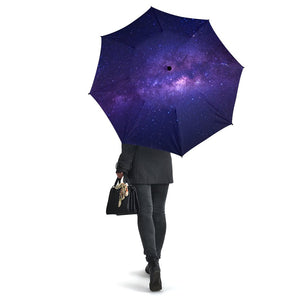 Dark Purple Milky Way Galaxy Space Print Foldable Umbrella GearFrost