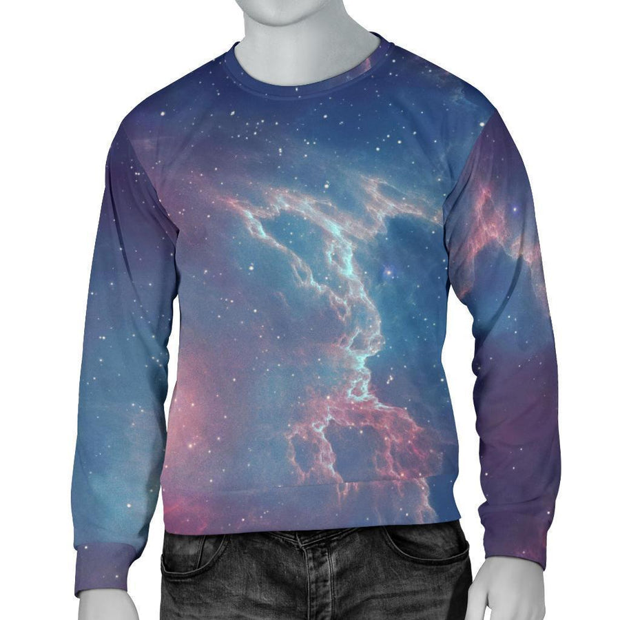 Dark Universe Galaxy Deep Space Print Men's Crewneck Sweatshirt GearFrost
