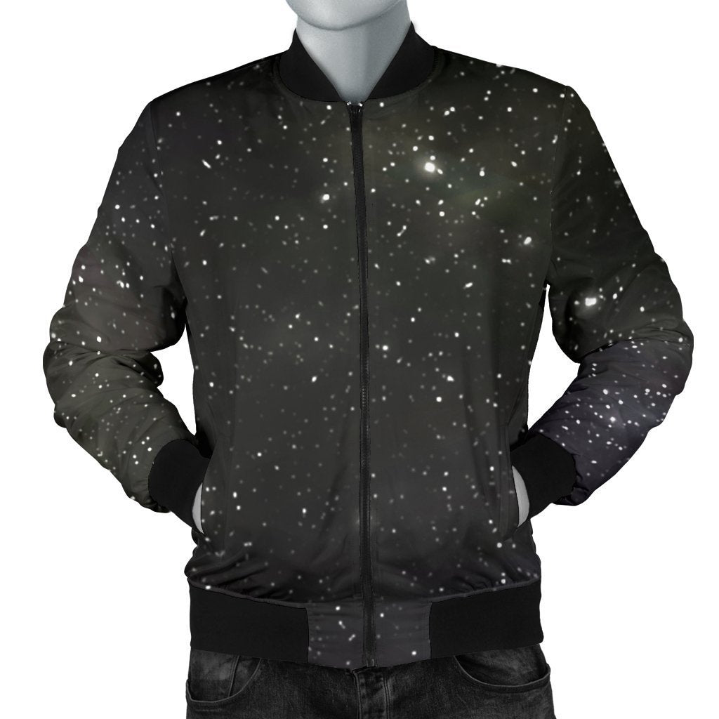 Dark Universe Galaxy Outer Space Print Men's Bomber Jacket GearFrost