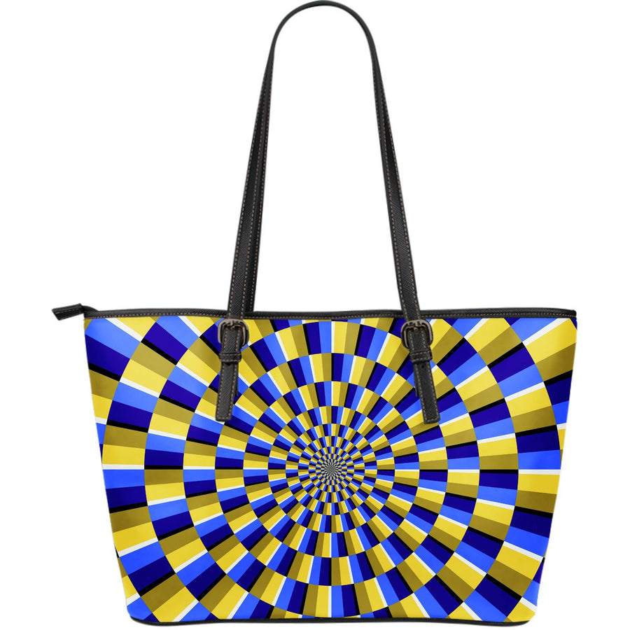 Dartboard Moving Optical Illusion Leather Tote Bag GearFrost