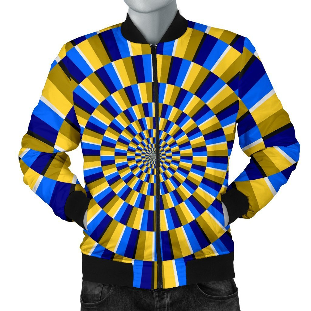 Dartboard Moving Optical Illusion Men's Bomber Jacket GearFrost