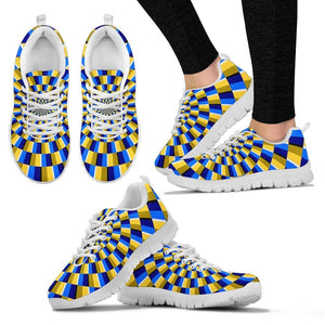 Dartboard Moving Optical Illusion Women's Sneakers GearFrost