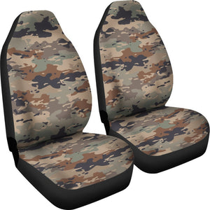 Desert Camouflage Print Universal Fit Car Seat Covers GearFrost