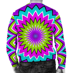 Dizzy Circle Moving Optical Illusion Men's Crewneck Sweatshirt GearFrost