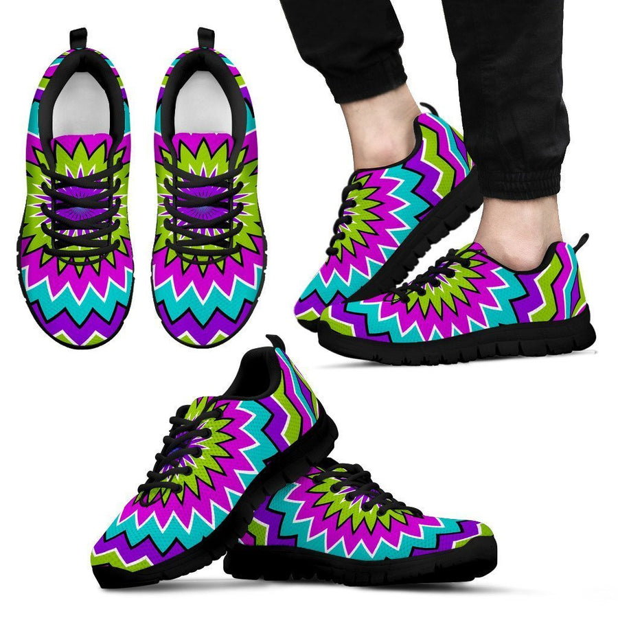 Dizzy Circle Moving Optical Illusion Men's Sneakers GearFrost