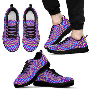 Dizzy Spiral Moving Optical Illusion Men's Sneakers GearFrost
