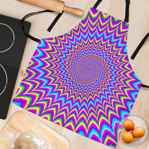 Dizzy Spiral Moving Optical Illusion Women's Apron GearFrost