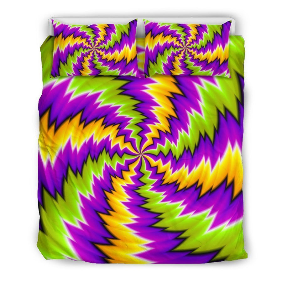 Dizzy Vortex Moving Optical Illusion Duvet Cover Bedding Set GearFrost