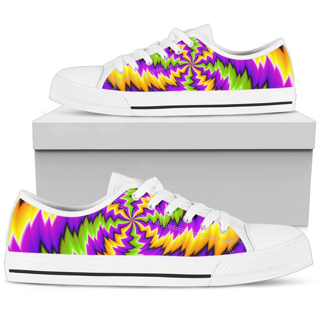 Dizzy Vortex Moving Optical Illusion Women's Low Top Shoes GearFrost