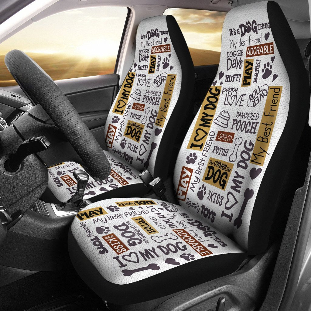 Dog Lover Quotes Universal Fit Car Seat Covers Gearfrost