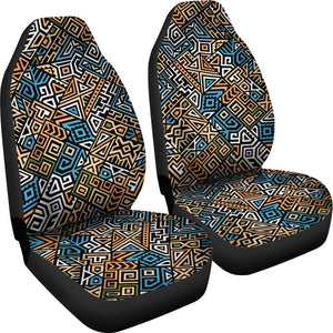 Ethnic Aztec Geometric Pattern Print Universal Fit Car Seat Covers GearFrost