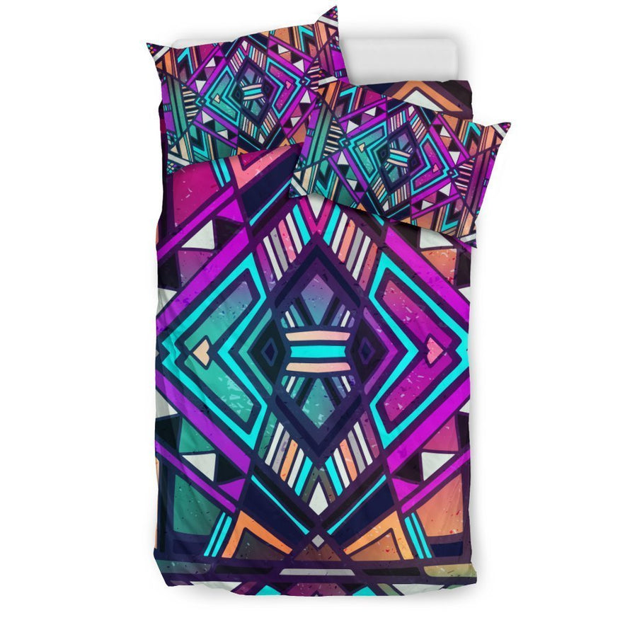 Ethnic Aztec Trippy Print Duvet Cover Bedding Set GearFrost