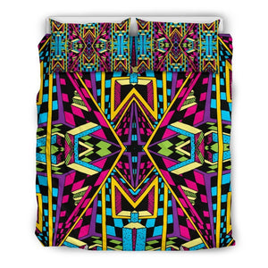 Ethnic Psychedelic Trippy Print Duvet Cover Bedding Set GearFrost