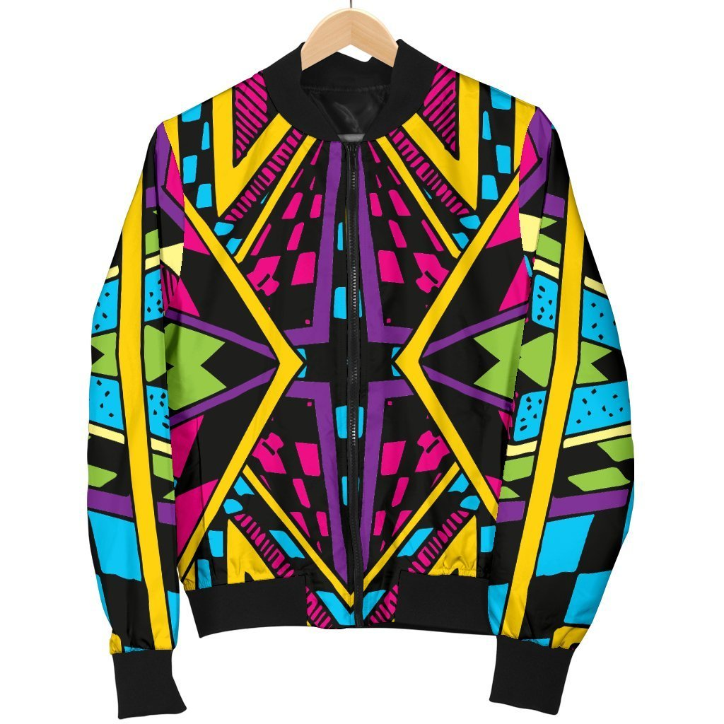 Ethnic Psychedelic Trippy Print Men's Bomber Jacket GearFrost