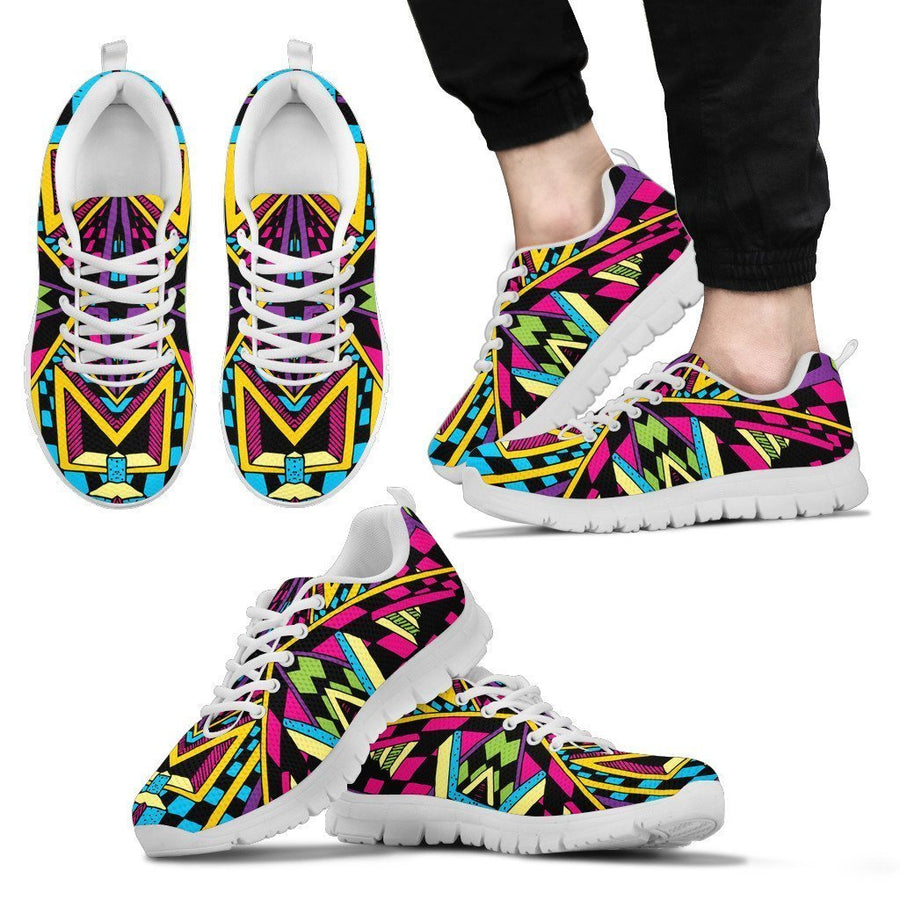 Ethnic Psychedelic Trippy Print Men's Sneakers GearFrost