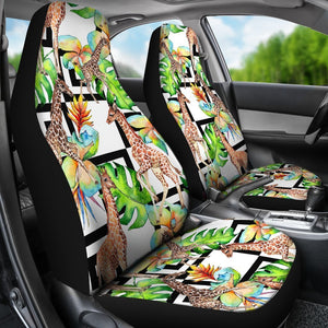 Exotic Tropical Giraffe Pattern Print Universal Fit Car Seat Covers GearFrost