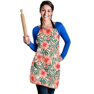Exotic Tropical Hibiscus Pattern Print Women's Apron GearFrost
