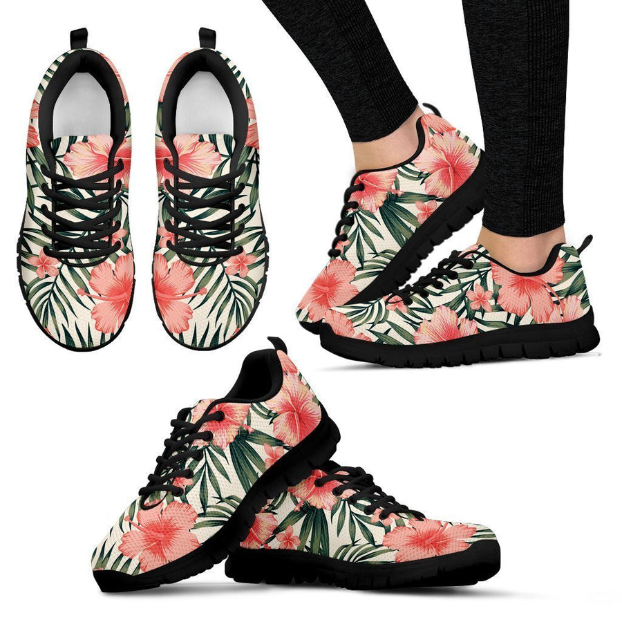 Exotic Tropical Hibiscus Pattern Print Women's Sneakers GearFrost