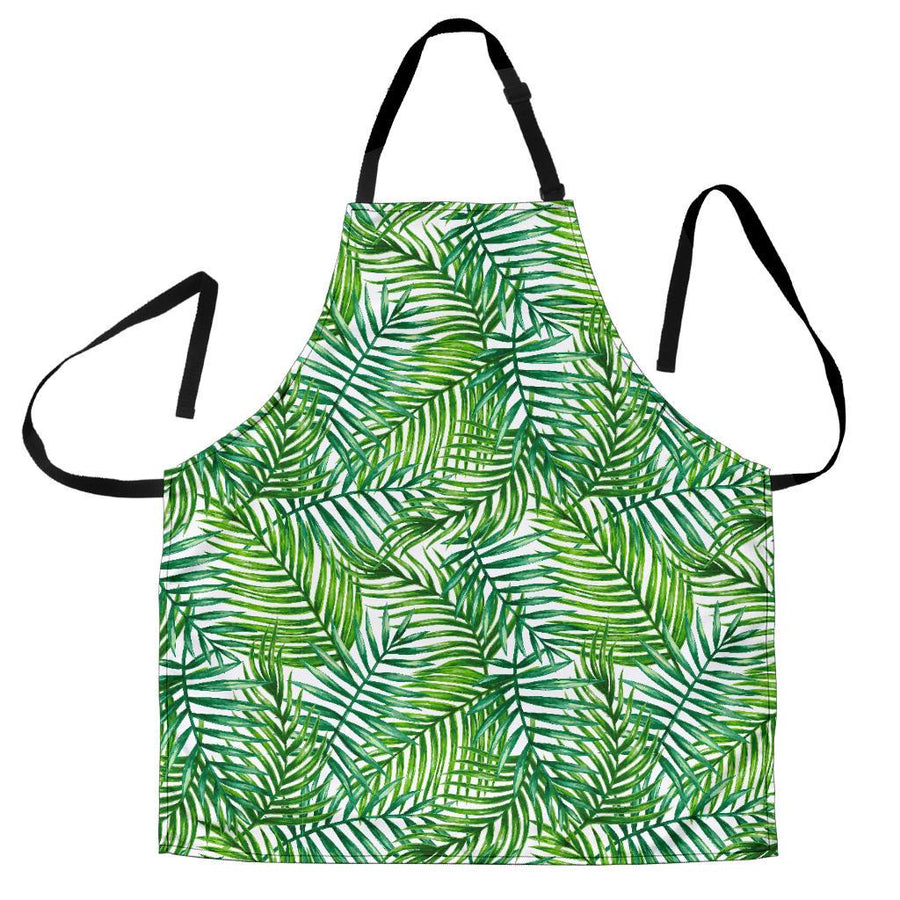 Exotic Tropical Leaf Pattern Print Men's Apron GearFrost