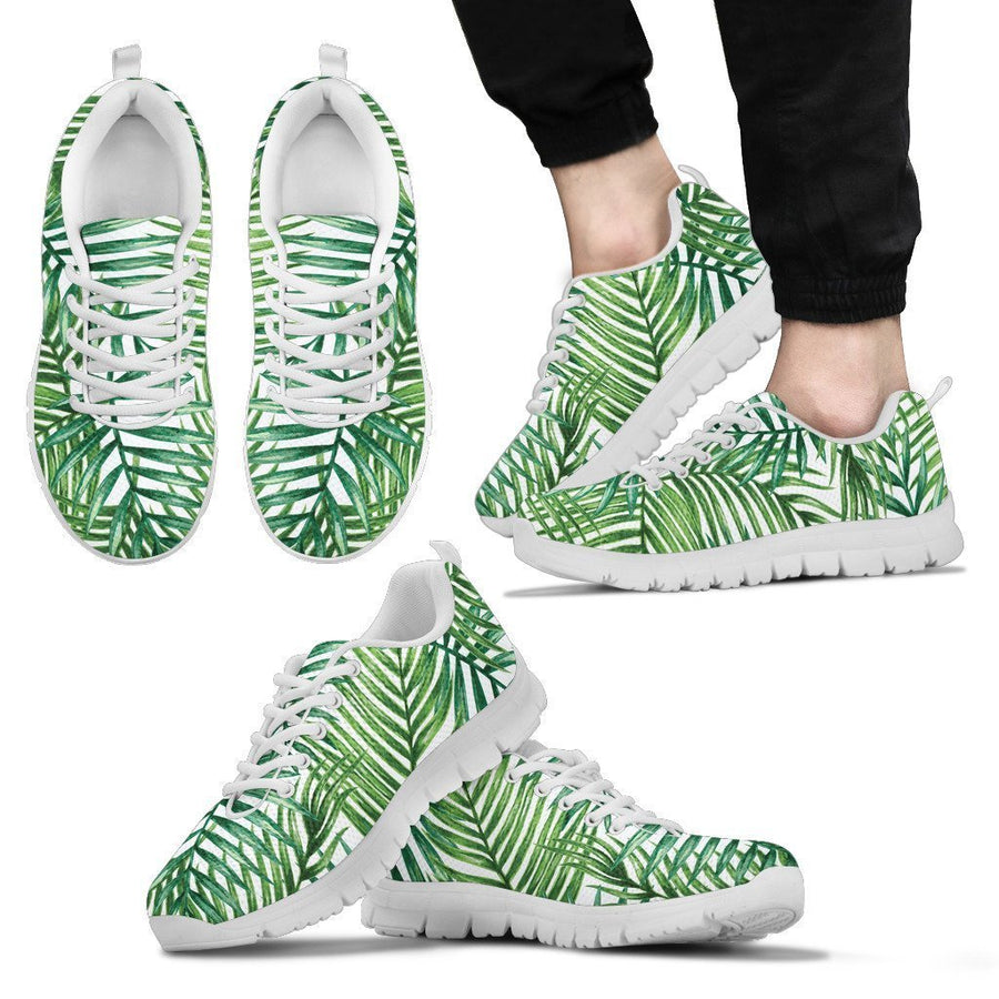 Exotic Tropical Leaf Pattern Print Men's Sneakers GearFrost